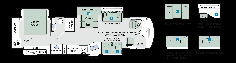 2019-venetian-m37-floor-plan - Signature Motorhomes
