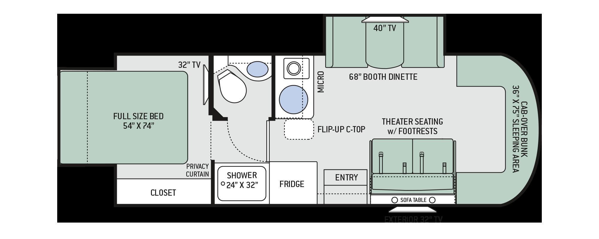 2019 Citation Sprinter 24sk Floor Plan Signature Motorhomes
